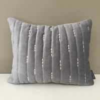Cushion - Quilted Silver thread