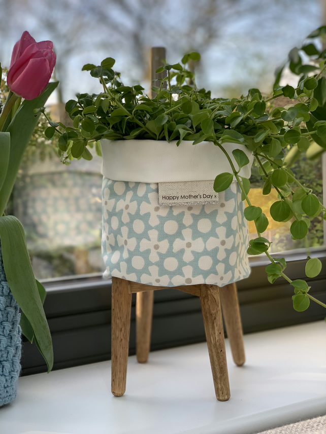 Mother's Day fabric storage bag - Pale Blue