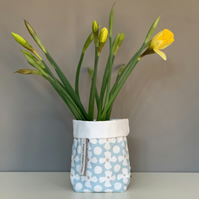 Happy Mother's Day Tin Can Cosy - Blue flowers