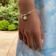 Child's Metallic Cloud Charm Bracelet