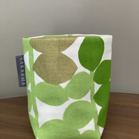 Tin Can Cosy - Green & Gold Leaves 1