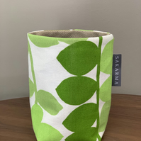 Tin Can Cosy - Green & Gold Leaves 2