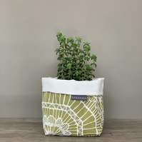 Fabric Storage Bag - Green Lace