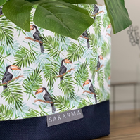 Fabric Storage Bag - Toucan