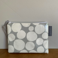 PVC Coin Purse - Grey and White