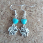 Elephant Charm Earrings