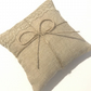 Rustic wedding ring bearer pillow, Ring bearer cushion. Wedding