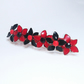 Flower Hair Clip with Black and Red Nail Varnish Flowers