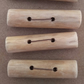 Beachcombed Toggle Buttons, 5 buttons made from pale coloured driftwood