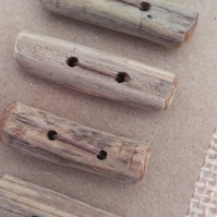 4 Driftwood Toggle Buttons