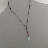 Beachcombed Necklace, sea glass and cord necklace
