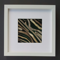 Driftwood Picture in white box frame