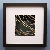 Driftwood Picture in black box frame