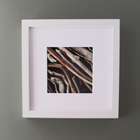 Driftwood Picture with white box frame