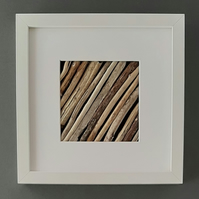Driftwood Picture in deep white box frame