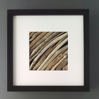 Driftwood Picture with Deep Black Box Frame