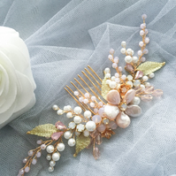 Blush Pink Bridal Hair Comb