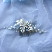 Seashell Bridal Hair Comb Beach Wedding Headpiece
