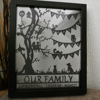 Our Family Paper Cutting Design