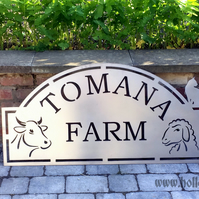 Unique Farm Sign Steel - Custom made
