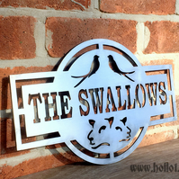 House name Steel Sign - unique and custom made