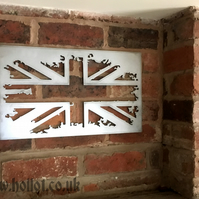 Union Jack steel sign grunge metal British flag UK GB Home wall decor