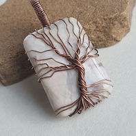 Grey Agate Tree Of Life, Wire Wrapped Tree Of Life,Gift For Him, Gift For Her.