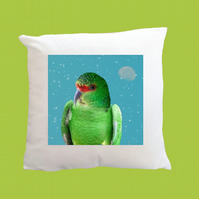 Slender-billed Parakeet Moon & Stars Super Soft Cushion