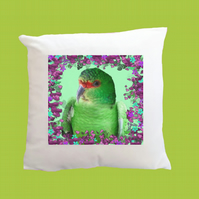 Floral Slender-billed Parakeet Super Soft Cushion