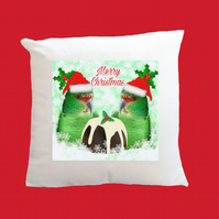 Christmas Slender-billed Parakeet Santa Super Soft Cushion