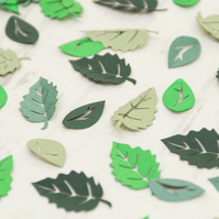 Green Leaf Table Confetti - Woodland Wedding - Leaves - Confetti - Rustic Weddin
