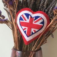 Handmade felt Union Jack decoration