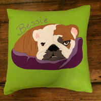Custom handmade pet portait cushions