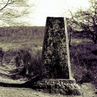 Limited Edition high quality framed print of Trig point