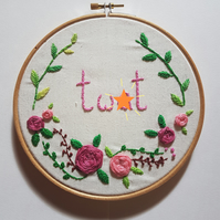 Favourite Word Embroidery