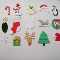 15 Assorted Quickutz Christmas Die Cuts  - Fully Assembled