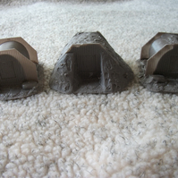 3 Resin Cast Anderson Shelters for Wargaming 28mm