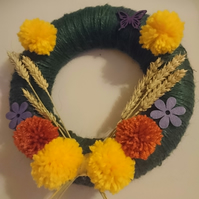 Summer Harvest Pom Pom Wreath