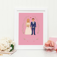 Personalised Wedding Portrait (DIgital File-Print at Home)
