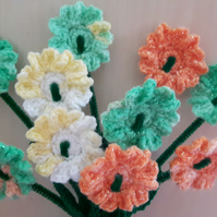 Sparkle flower bouquet, bunch of daisy flowers for birthday gift, anniversary