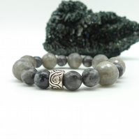 Labradorite Gemstone Stretch Bracelet.