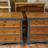 Handcrafted Solid Pine (no veneer) oversized Bedside Cabinets