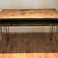 Reclaimed Wooden Hall Table on Hairpin Legs