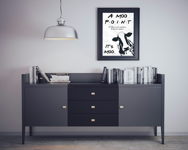 A Moo Point Joey Tribbiani Friends Quote Favourite Sitcom Wall Art Print