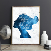 She Designed a Life She Loved Inspirational Motivational Quote Woman Print