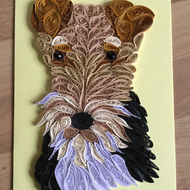 Wire Fox Terrier Card, a Popular Pet, this makes an ideal Dog Lovers Card,