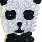 Panda Card, Nursery Decor, Birthday Card, Children's Card, Paper Sculpture