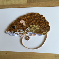 Harvest Mouse, Quilled Wildlife Picture of one of our smallest creatures.
