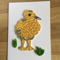 Duckling Card, Toddlers Card, makes great  Nursery Decor.