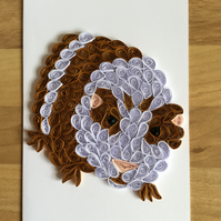 Guinea Pig Card, this little piggy can't wait to cheer someone up.